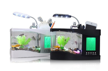 Fashionable plastic indoor aquarium fish tank