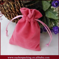 China Factory Cheap Personalized Various Colors Velvet Gift Packing Bag for Wedding
