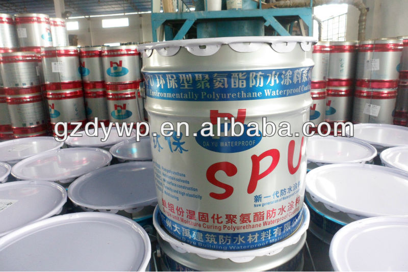 High flexible polyurethane waterproofing coating/paint