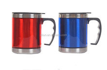 2015 Popular Advertising Logo Printed Promotional Travel Mug Plastic Travel Mug