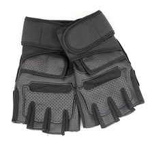 Black Cut Finger <strong>Weight</strong> Lifting Gloves For Man Fitness Gym Gloves