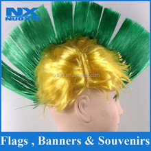 Heat resistant synthetic good quality cheap Mohawk fans wig factory