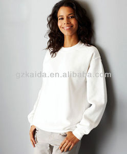 Unisex 100%Cotton sweatshirts without hood/womens pullover hoddies