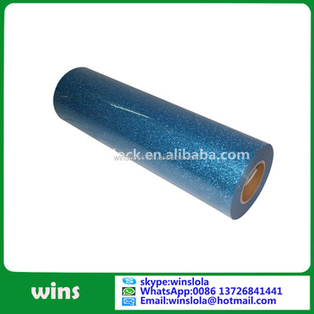 wins glitter flex blue heat transfer flex