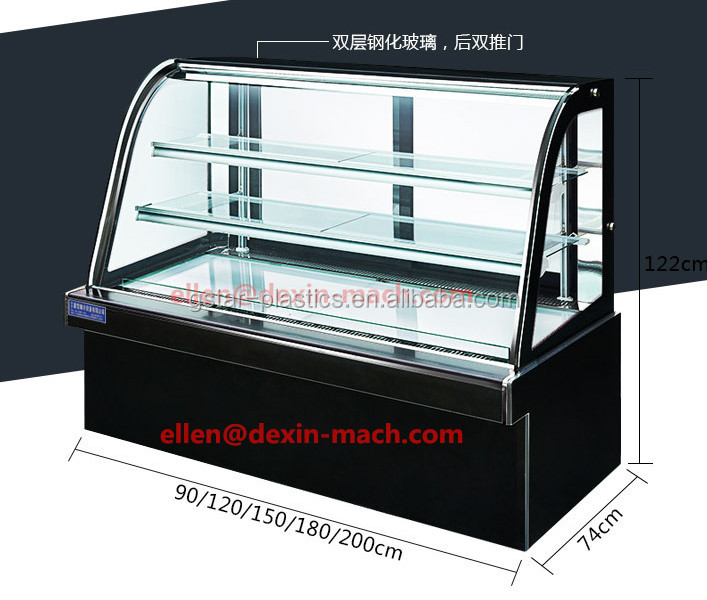 0.9m/1.2m Small Deli Showcase Cabinet Refrigerator/Cooked Food Deli Case Display Freezer and Cooler