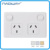 GPOA4 SAA 10A 250V double power point 2gang 2socket wall switch