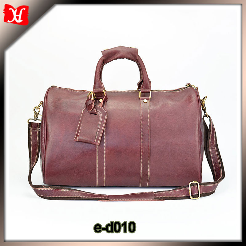 Custom convenient large capacity cheap leather luggage duffle bag sport duffel travel bag