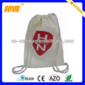 natural white drawstring backpack cotton bag(NV-D0301)