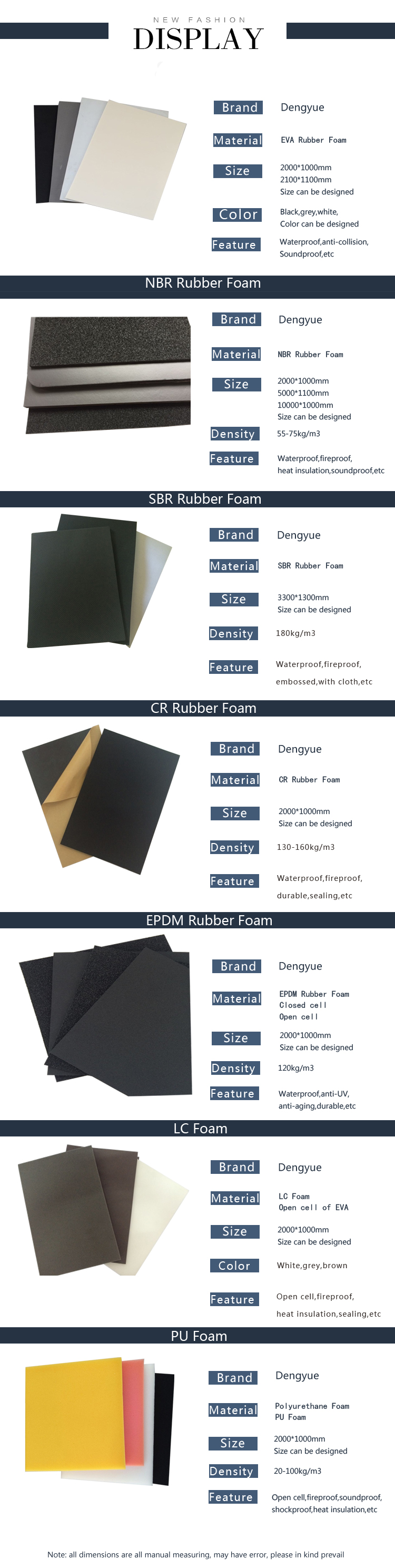 Eco Friendly heat insulation Rubber sheet SBR NBR CR EPDM