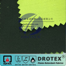 98% Cotton 2% anti static 260-280gsm Orange Fire resistant antistatic fabric For Oil gas Industry clothing