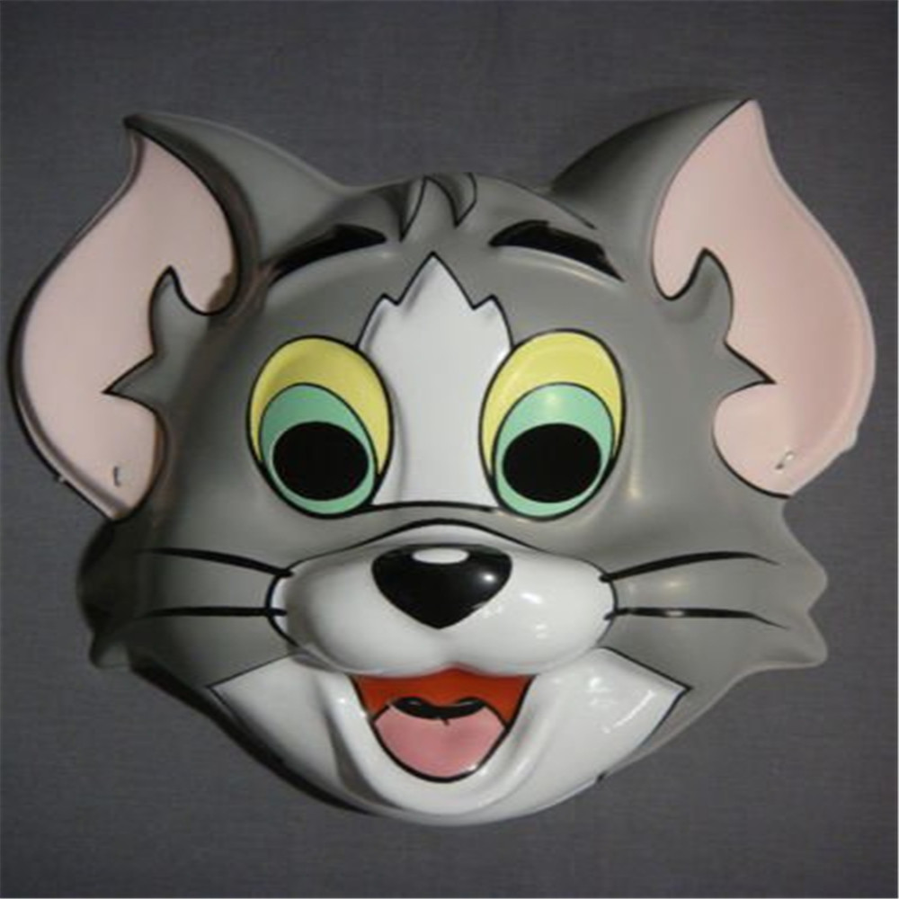 2017 hot sell pvc cartoon plastic party masks for wholesale