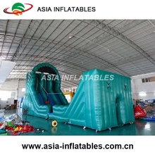 Cheap Price Inflatable Zip Line , Inflatable Mobile Zip Line Game For Entertainment Park