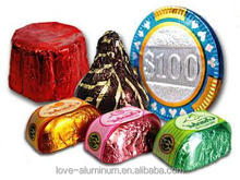 bottom price aluminum foil roll for chocolate bar wrappers