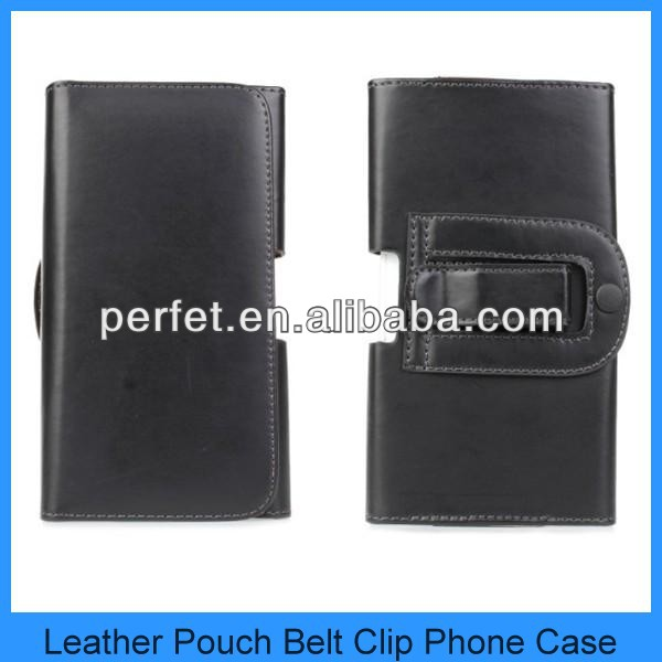 Black Leather Belt Clip Holster Pouch Carrying Case for Apple iPhone 3GS 4 4G 4S