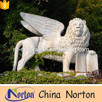Outdoor Stone flying lion statue Various stone lions statues NTBM-L096R