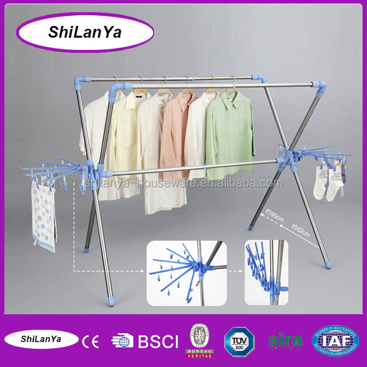 manual large clothes display rack for kids