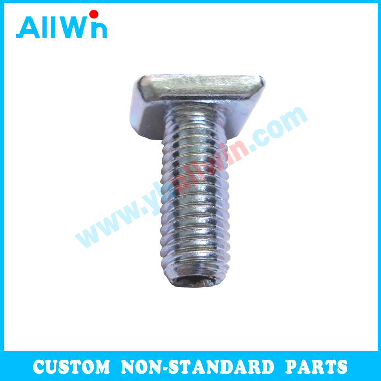 Custom Carbon Steel Zinc Plated Nonstandard Fasteners High Tensile Anodized Colored Hammerhead T Bolt