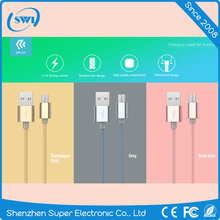 Wholesale Colorful Braided Micro Charging USB Data Cable for Samsung Smart Phones Tablet USB 2.0 3.0 Cable