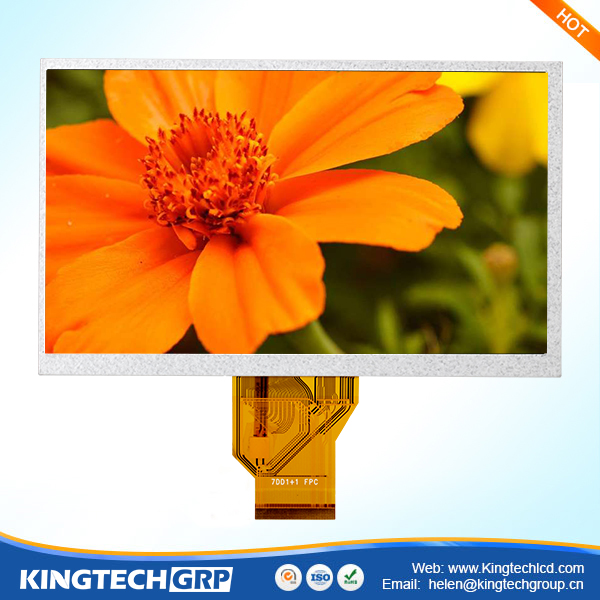 50 pin 7 inch industrial frameless sunlight readable lcd monitor