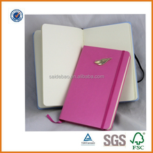 Leather pocket hardcover notebook,New Products 2016 Notebook with Wrap Band School Supply,high quality 2016 notebook