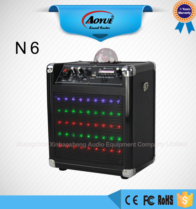 HIFI N6 p audio speakers and loudspeaker box with bluetooth led light