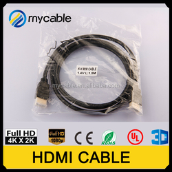 China factory Hdmi to hdmi cable Round black cable hdmi cable PVC injection AWG24, AWG26, AWG28, AWG30