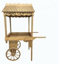 Custom Design Wood Flower Cart stand for Retail Store Display Fixture
