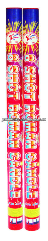 "2015 New Products--1.5"" 8 Shots Roman Candle Fireworks"