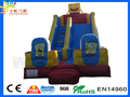 PVC tarpaulin en14960 2016 kids customize size sponge inflatable slides for sale
