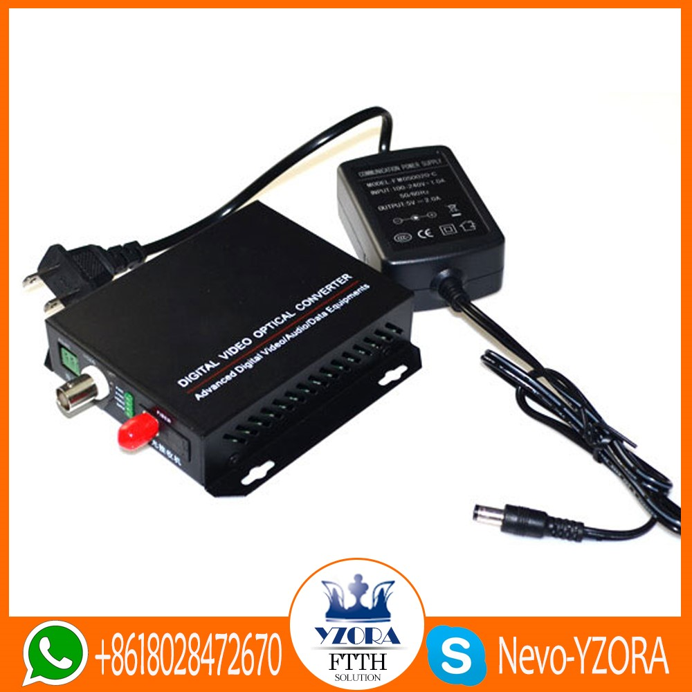 1VFCSX 1 channel FC video optic converter 20KM