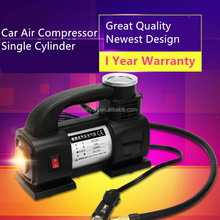 HF1313 Portable 12V Air Compressor Car Tyre Inflator Heavy Duty Pump Tire Inflator Car Tool Inflatable Pump With LED Light