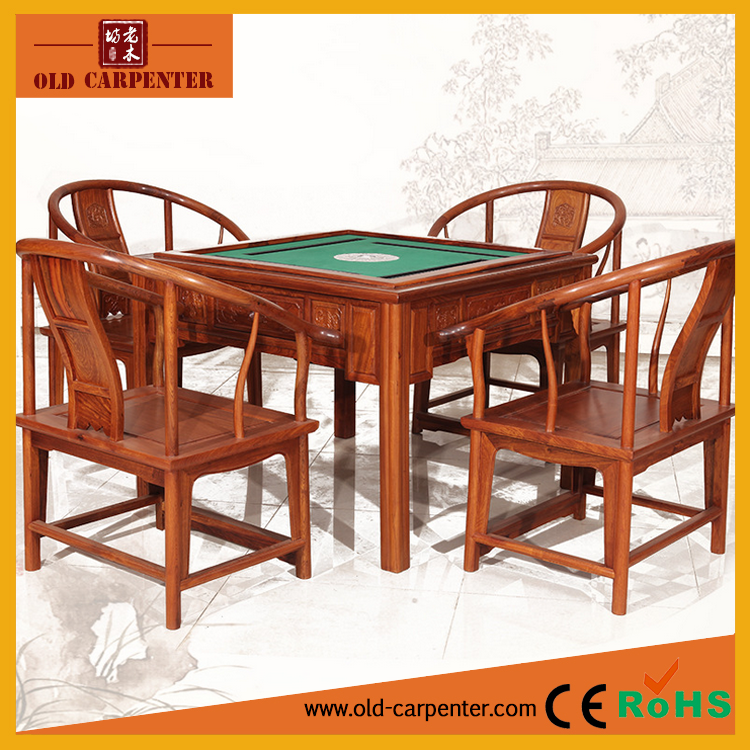 2017 hot sale high quality Luxury wooden mahjong table set