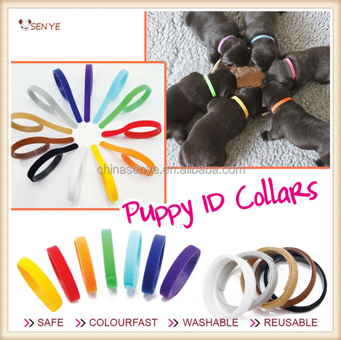 12 Colors Soft Adjustable Reusable Animal Puppy dog kitten ID Collar Band