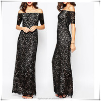 New Arrival Off The Shoulder Tall Tube Dress Women Sexy Patterns of Lace Evening Dress