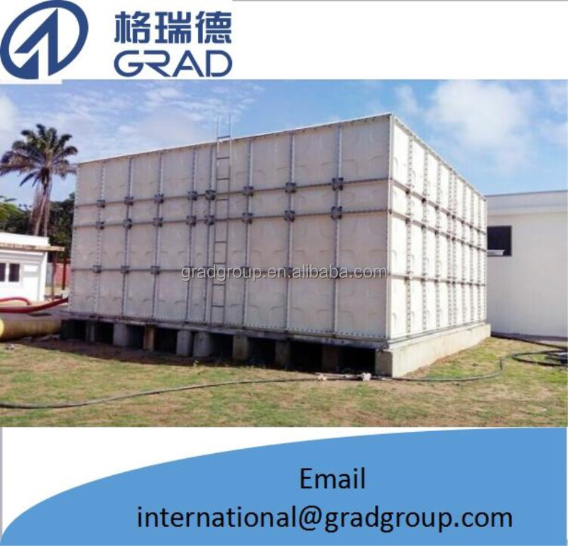 Drinking water / fire fighting water storage grp water tank