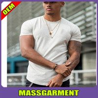 Wholesale grey dri fit blank t shirt Mens soft strong muscle tee shirt Custom brand fitness t shirt