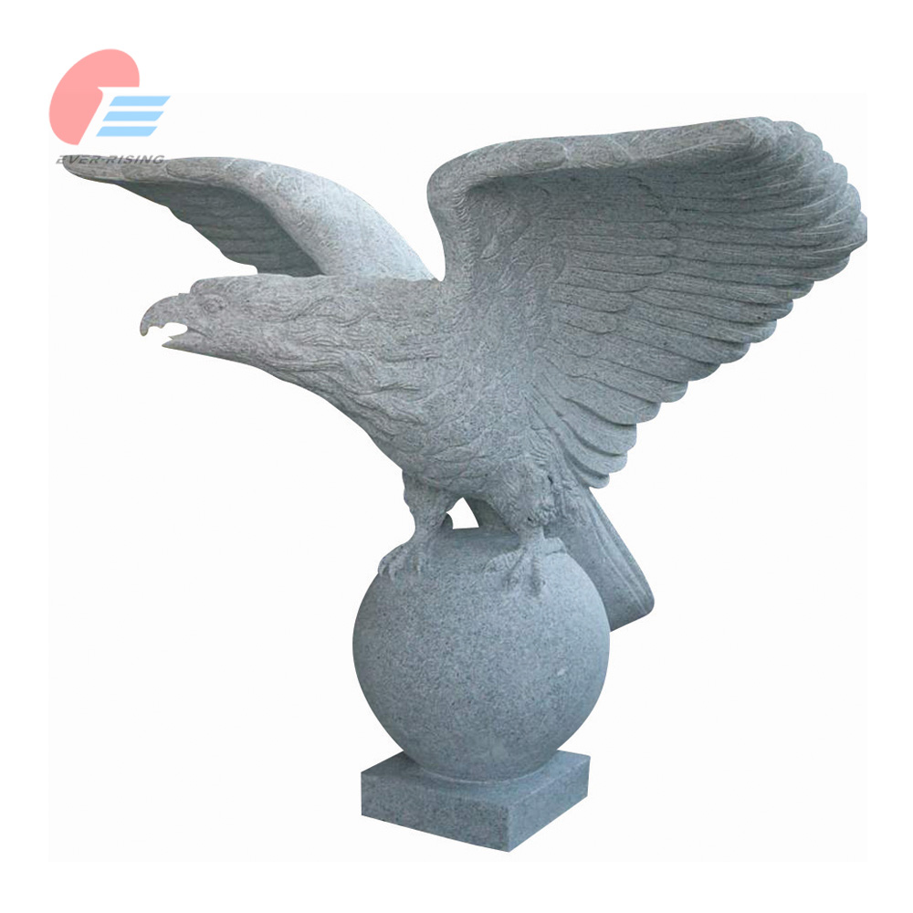 Grey granite Eagle Carving