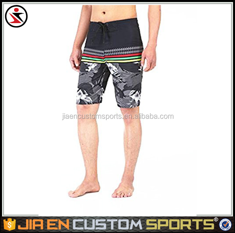 High quality sublimation or digital print australian mens beach shorts pattern board shorts