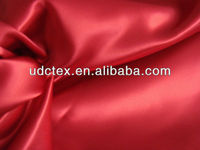 Fashion red poly satin wedding gowns