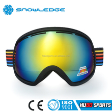 Durable PC Lenses Material and TPU Frame Material Nice Ski Goggle with different patterns straps HB-163A