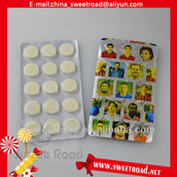 Football Star dry milk candy lozenges