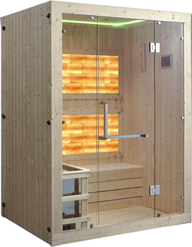 Portable traditional infrared sauna room with Natural salt bricks for sale