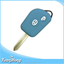 Soft rubber car key cover colorful silicone Citroen fold key cover Yuanhong made
