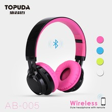 Factory wholesale wireless foldable Bluetooth headphone BT 4.1 support FM radio headphone