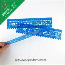 Hot sell new design for plastic ruler / ODM office school alphabet stencil ruler