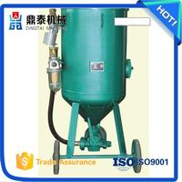 Vessel renew used sand blasting machine,Pot type derusting cleaning peening equipment