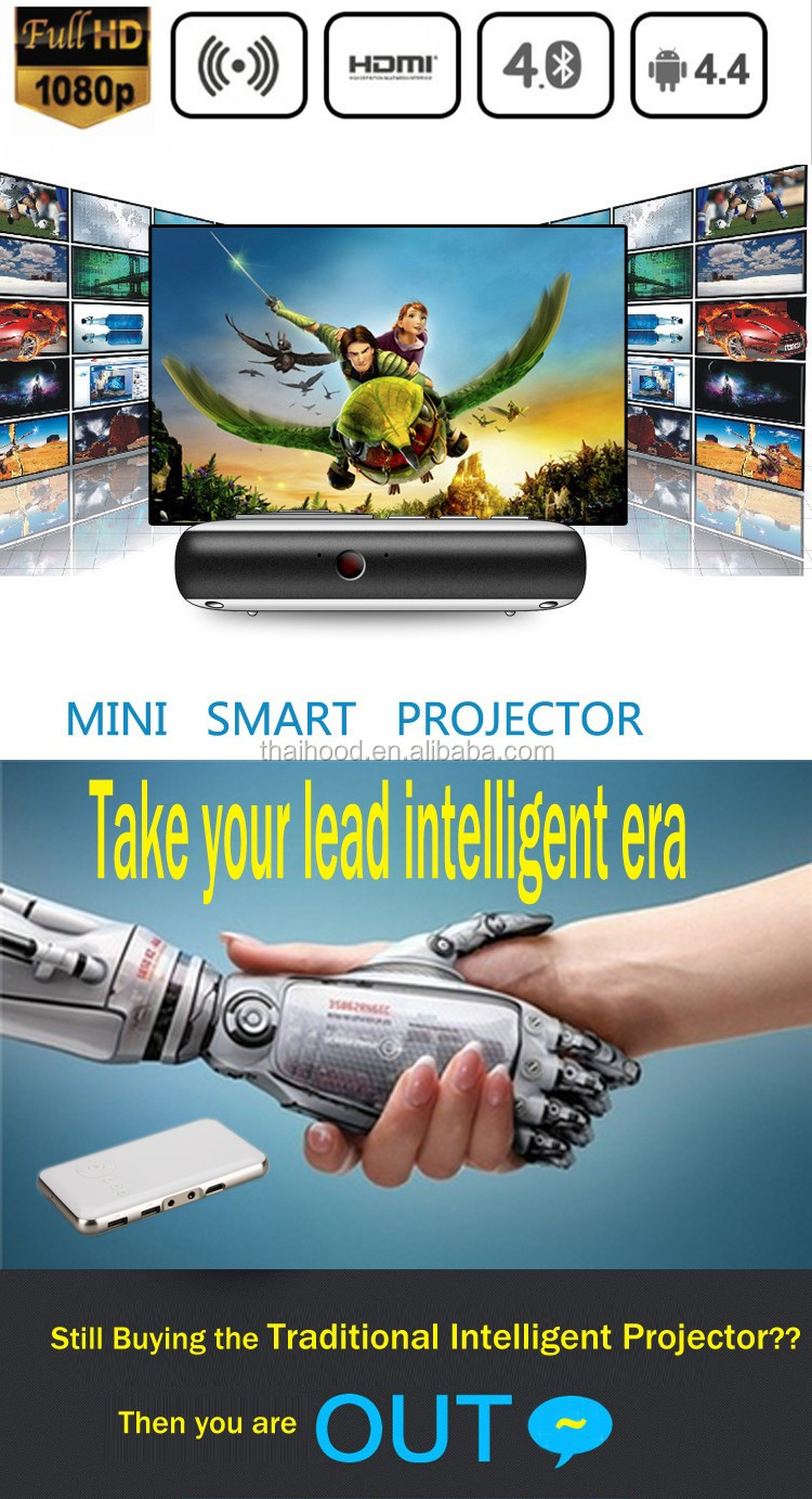 1080P DLP LED Smart Movie Projector with HDMI for Home Threater