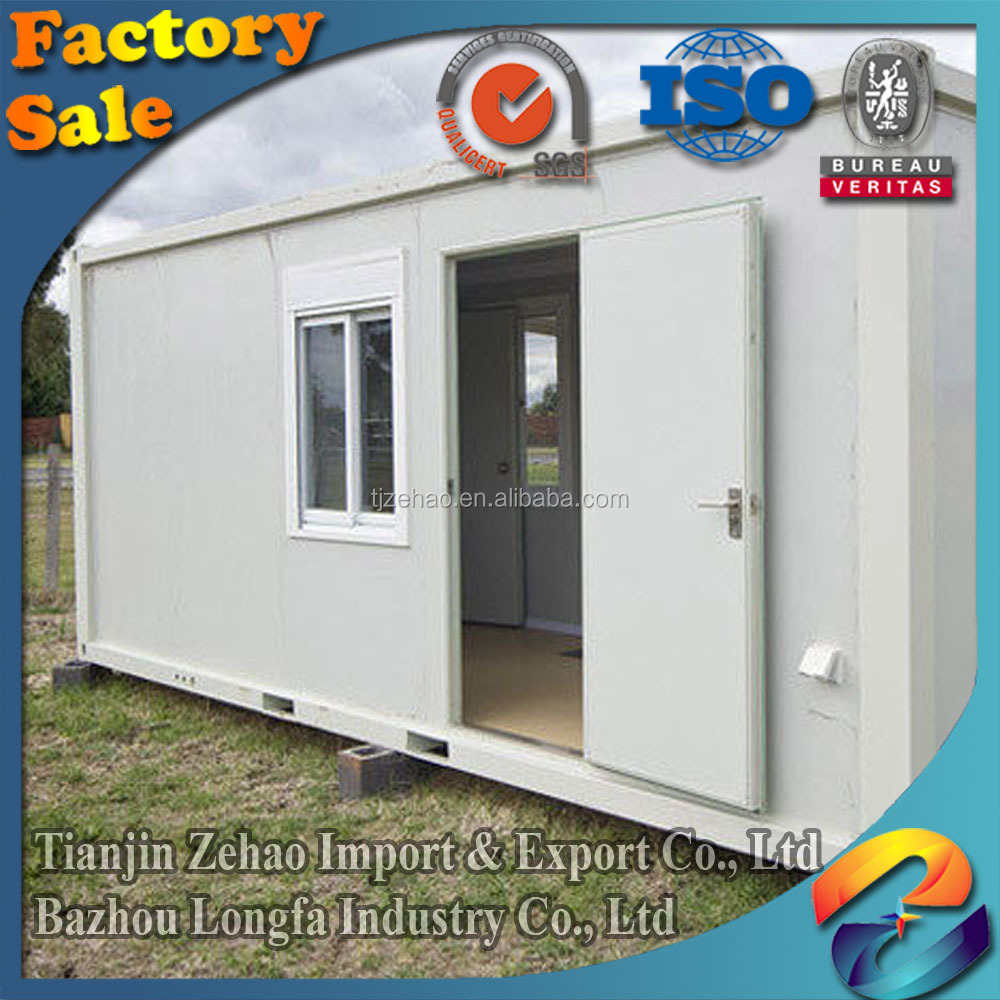 high quality container homes/prefab cabins granny flat container homes for sale/cheap prefab houses With Side Corridor