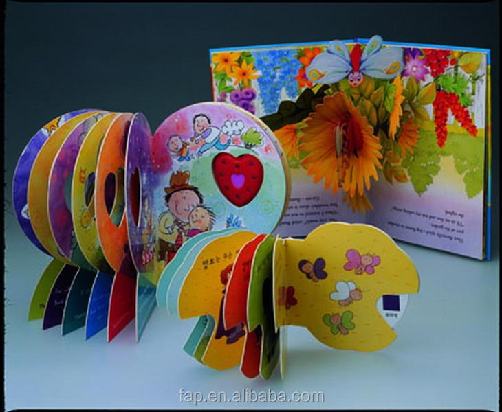 Eco-friendly new products little kids colorful paper books