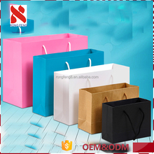 China Wholesale High quality paper material and gift shopping bag with handle